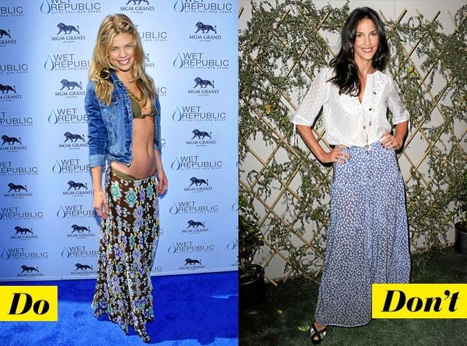 Look de star : comment porter la jupe longue imprimée
