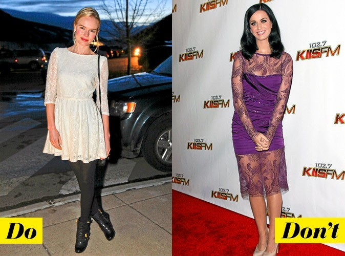Look de star : comment porter la robe en dentelle ?