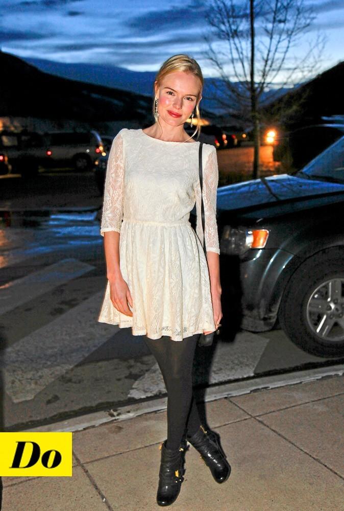 Look de star : la robe en dentelle de Kate Bosworth