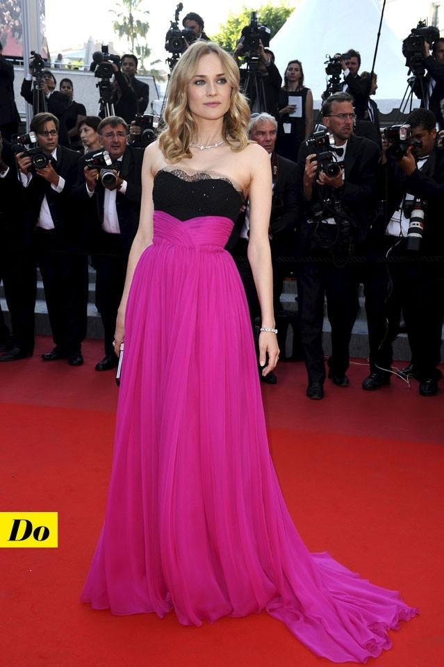 Mode d'emploi du look fluo : la robe rose fluo de Diane Kruger