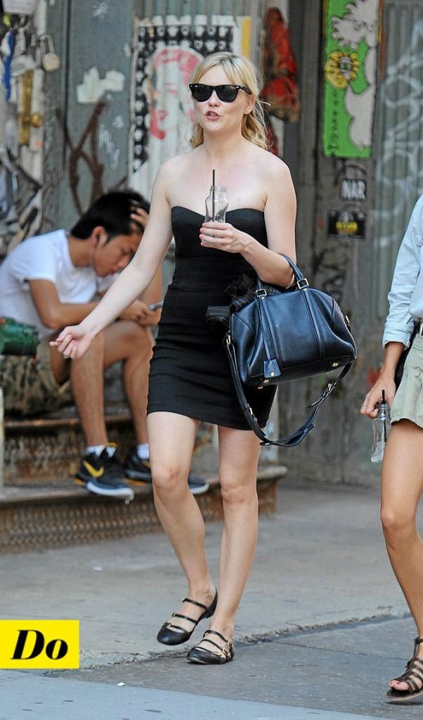 La petite robe noire de Kirsten Dunst !