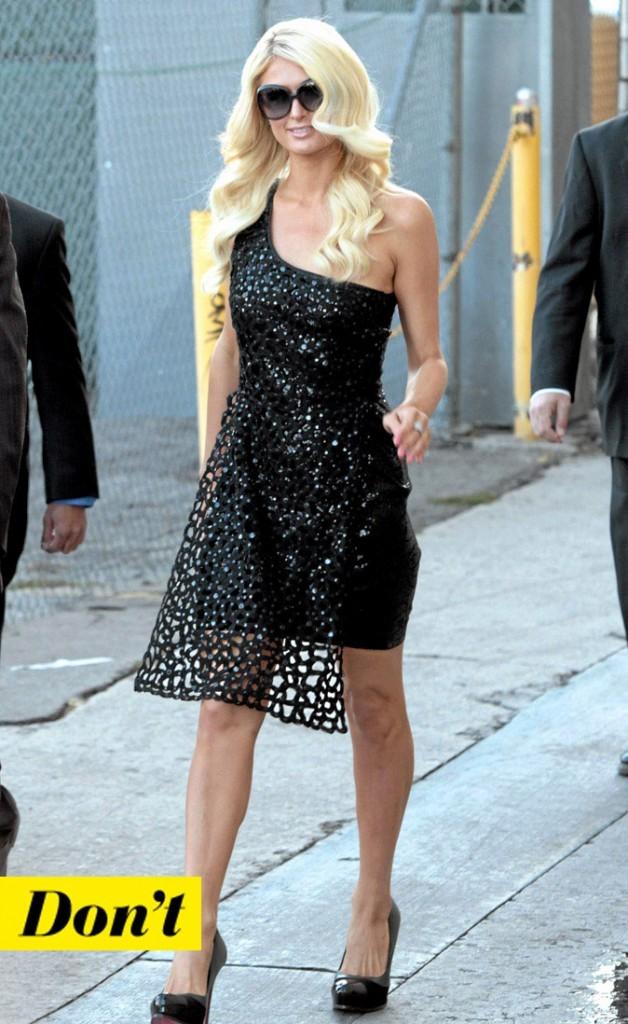 La petite robe noire de Paris Hilton !