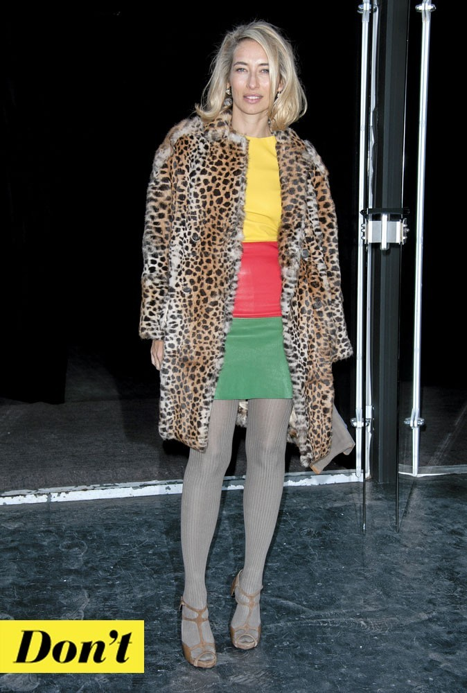 Le look color block d'Alexandra Golovanoff