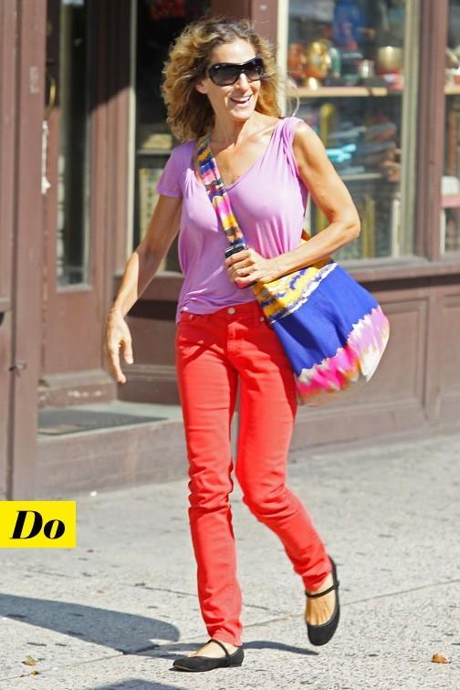 Sarah Jessica Parker et son jean rouge