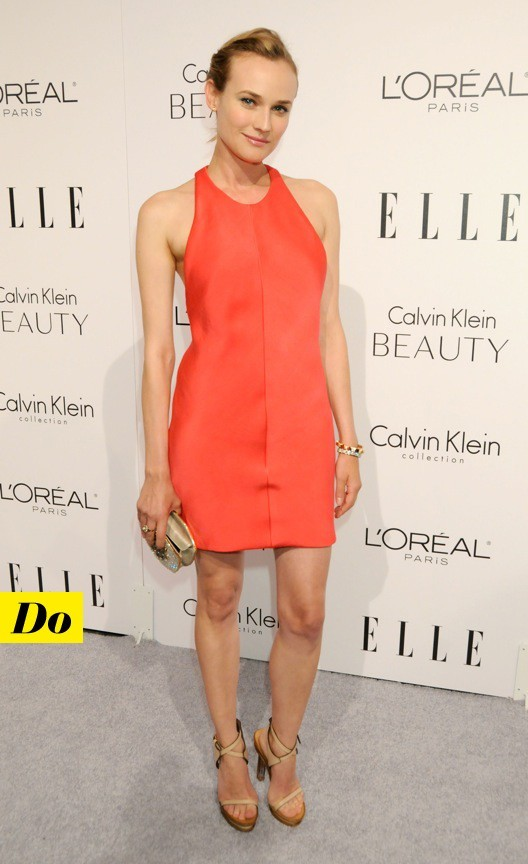 Diane Kruger dans une robe survitaminée