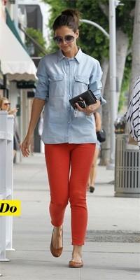 Katie Holmes et son jean rouge