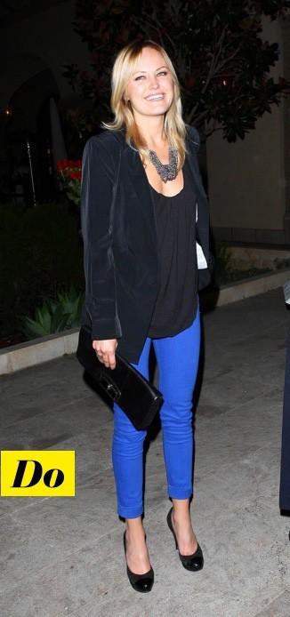 Malin Akerman et son jean bleu klein