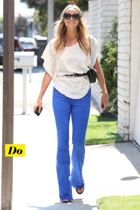Stacy Keibler et son jean bleu