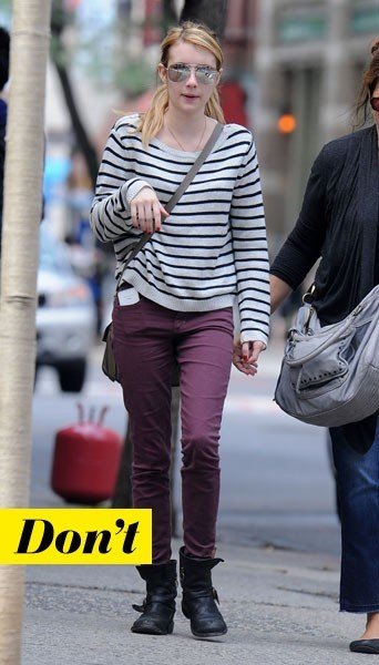 Emma Roberts et son pull marinière