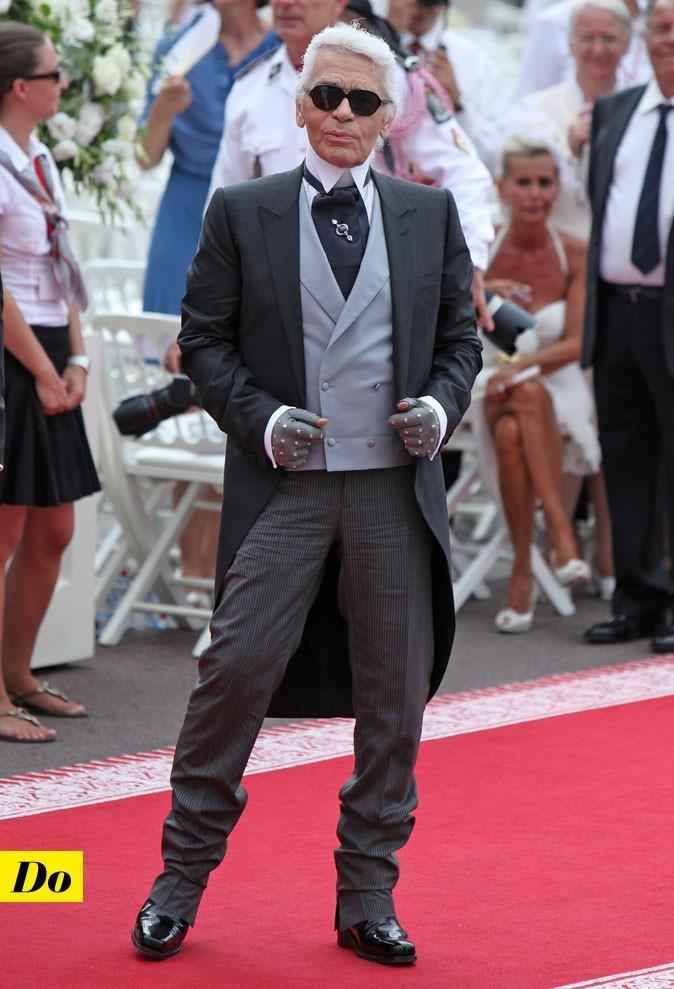 Mariage de Charlene Wittstock et Albert de Monaco : le look de Karl Lagerfeld !
