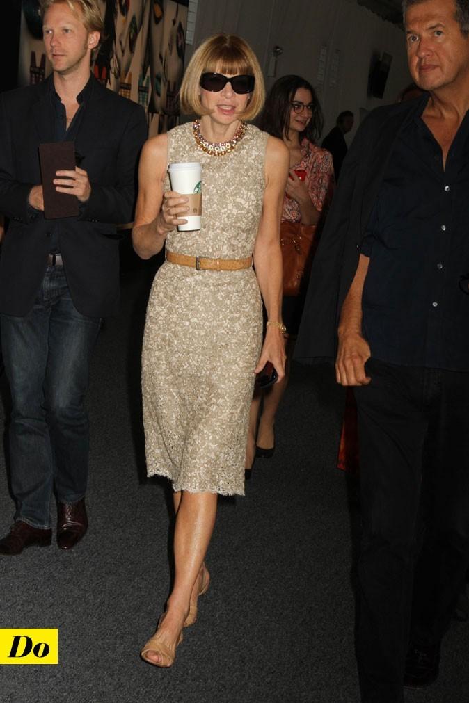 Mercedes-Benz Fashion Week 2011 : Anna Wintour lors du défilé Michael Kors !