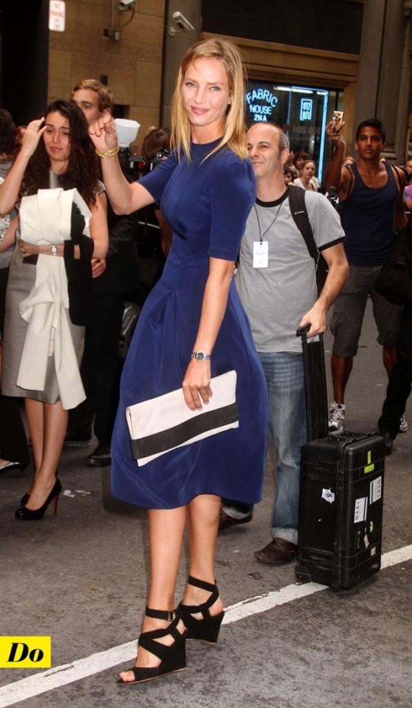 Mercedes-Benz Fashion Week 2011 : Uma Thurman lors du défilé Calvin Klein !