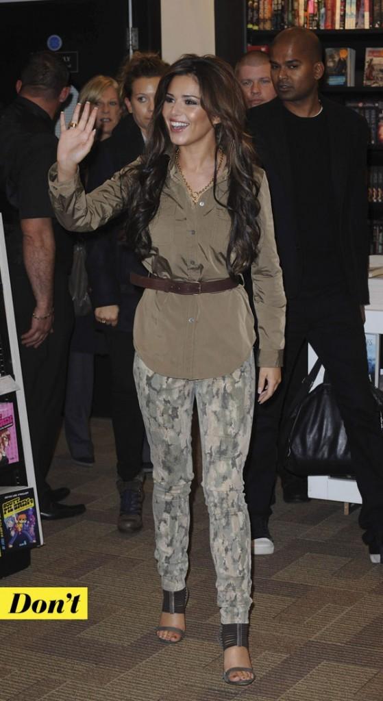 Tendance militaire : le pantalon camouflage de Cheryl Cole