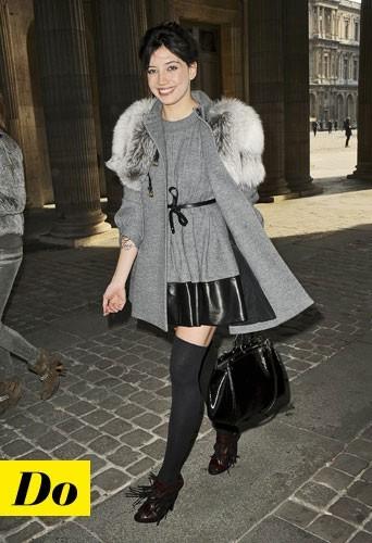 Le manteau à col fourrure de Daisy Lowe