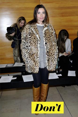 Don't : Élodie Bouchez et sa veste en fourrure