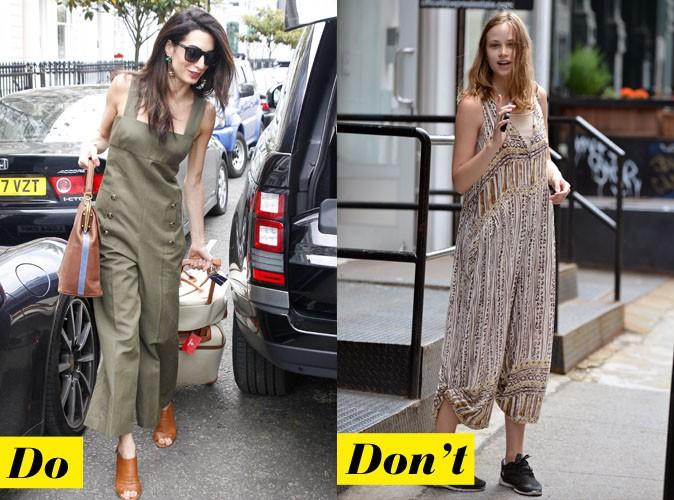 La combinaison - Do : Amal Clooney / Don't : Makenzie Leigh