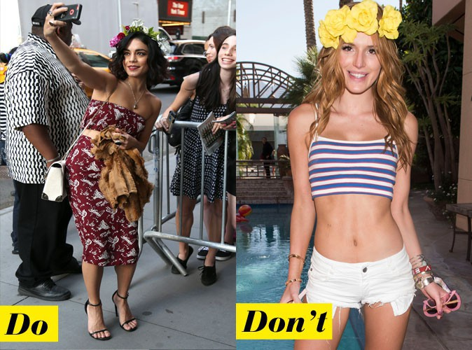 La couronne de fleurs - Do : Vanessa Hudgens / Don't : Bella Thorne