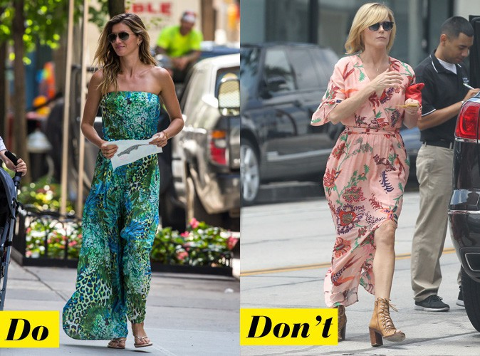 La longue robe fleurie - Do : Gisele Bundchen / Don't : Julie Bowen