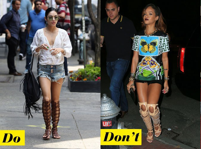 Les spartiates montantes - Do : Vanessa Hudgens / Don't : Rihanna