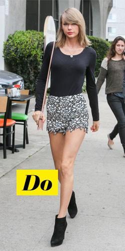 Do : Taylor Swift et son short imprimé