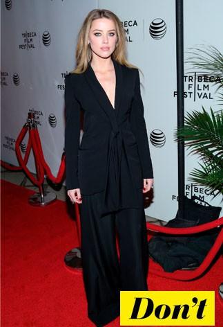 Don't : Amber Heard et sa combinaison noire