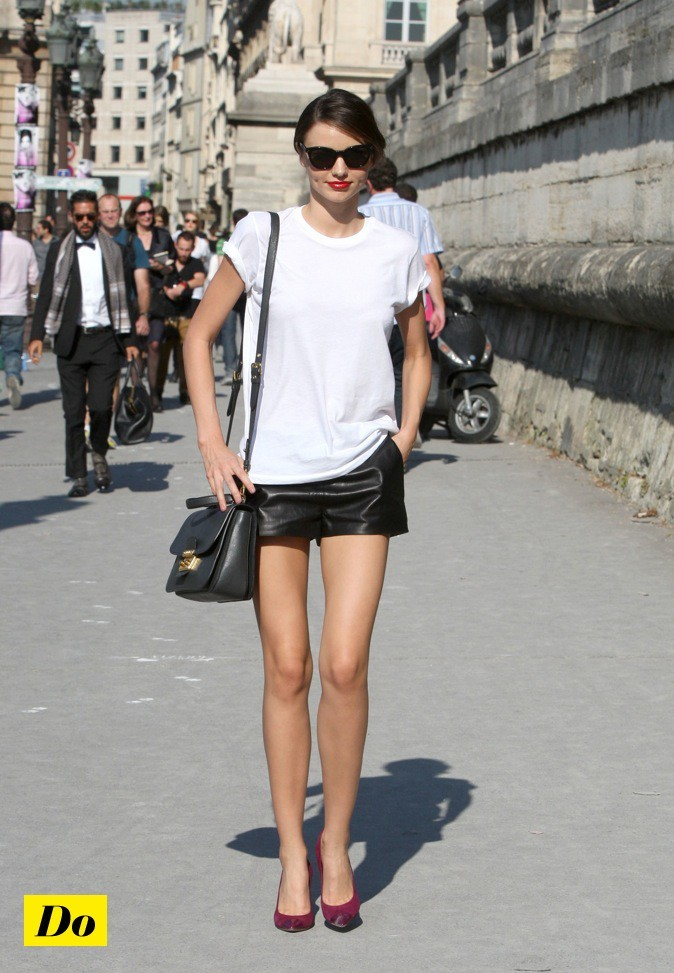 Miranda Kerr : un look enfantin !