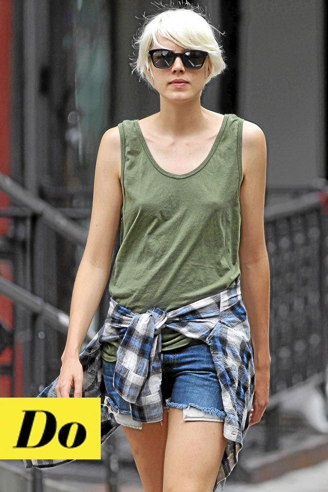 La coupe courte blonde d'Agyness Deyn