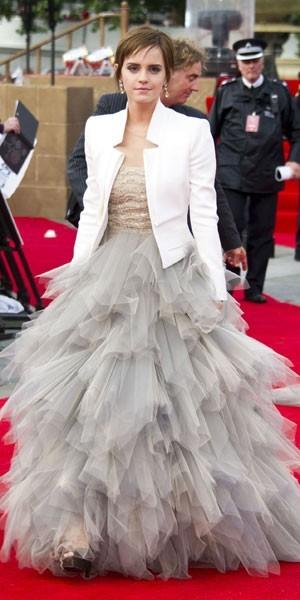 La culotte en coton blanc d Emma Watson -
