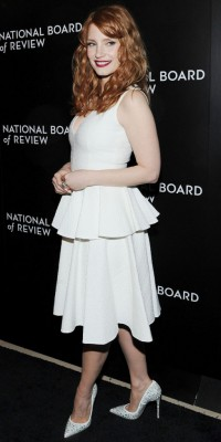 Jessica Chastain : glamour en petite robe blanche !