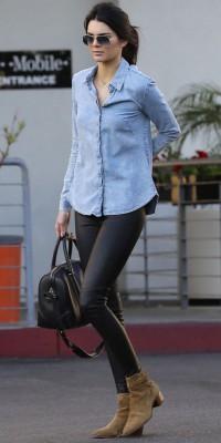Kendall Jenner : sexy en chemise dos nu et cuir !
