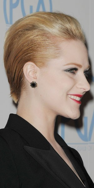 La coiffure androgyne d'Evan Rachel Wood : in ou out ?