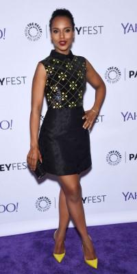 Look : Kerry Washington : Une tenue black and yellow maniée à la perfection !