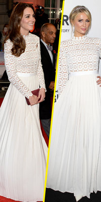 Mode : Kate Middleton VS Paris Hilton : qui porte le mieux la robe blanche Self-Portrait ?