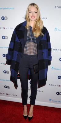 Mode : Lindsay Ellingson : un total look bleu chic et élégant pour l'Ange VS !