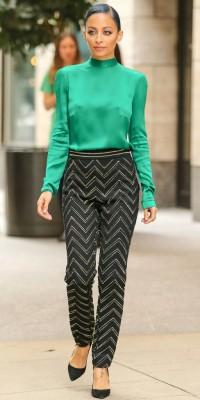 Nicole Richie : fatale en blouse émeraude !