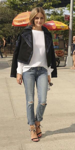 Olivia Palermo : elle porte aux pieds ses propres créations !