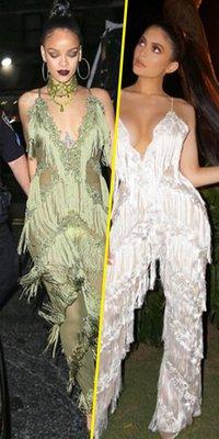 Rihanna VS Kylie Jenner : qui porte le mieux la combinaison à franges ?