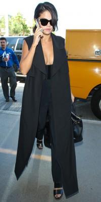 Selena Gomez : over lookée pour prendre l'avion !
