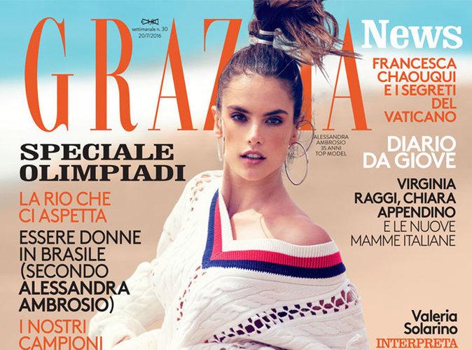 Alessandra Ambrosio : stylée et sexy à la plage pour Grazia Italie