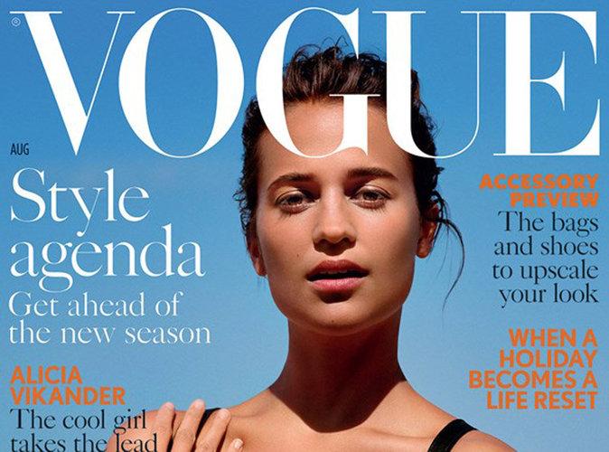 Alicia Vikander : Presque méconnaissable en couverture du Vogue UK !