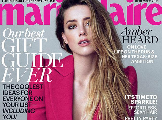 Amber Heard sexy pour Marie-Claire, une veste suffit à habiller la femme de Johnny Depp !