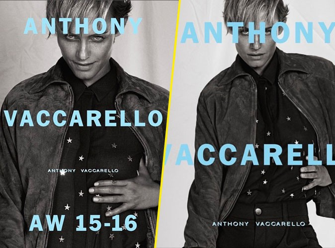 Amber Valletta, masculine et contemporaine pour la collection d'hiver Anthony Vaccarello