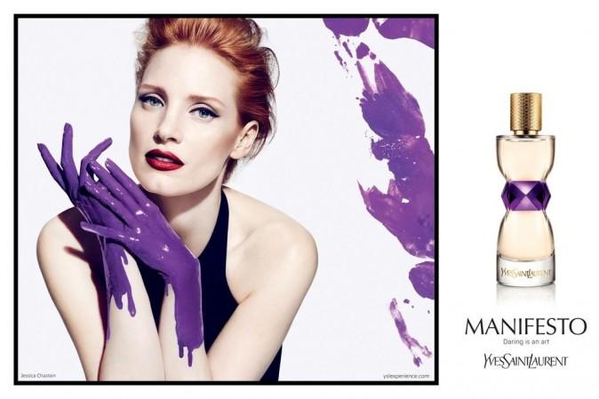 Jessica Chastain pour le parfum Manifesto d'Yves Saint Laurent !