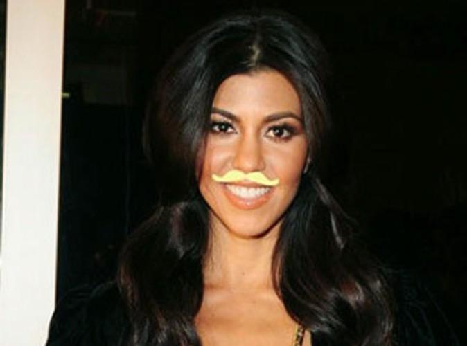 Beauté : Kourtney Kardashian adopte la moustache pour la bonne cause !