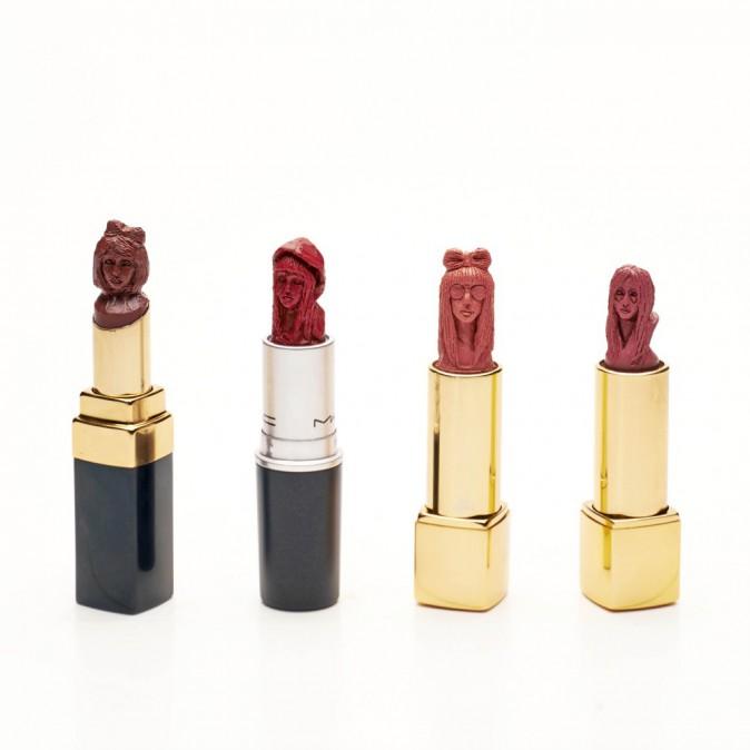 Lady Gaga sculptée dans un tube de rouge à lèvres