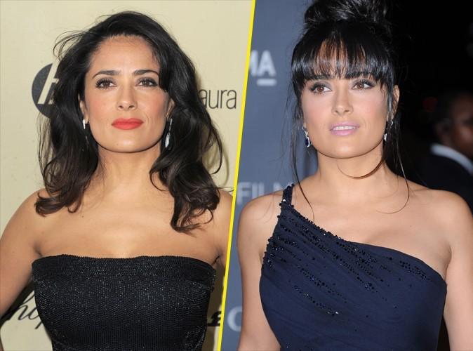 Beauté : mode d'emploi du regard métallique de Salma Hayek !