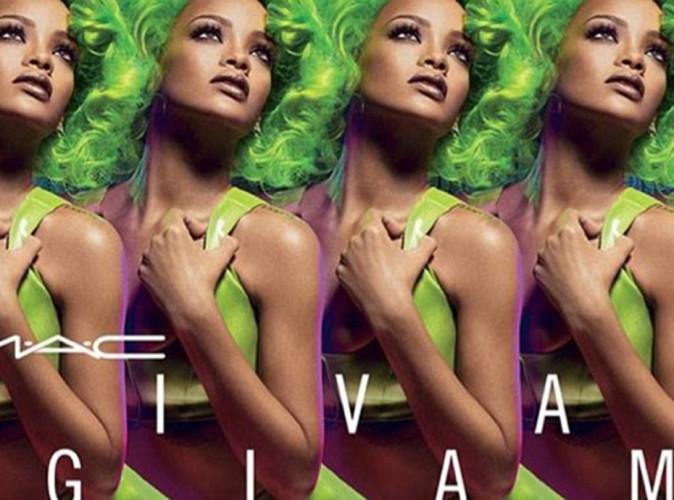 Beauté : Rihanna : déesse aux cheveux verts pour M.A.C !