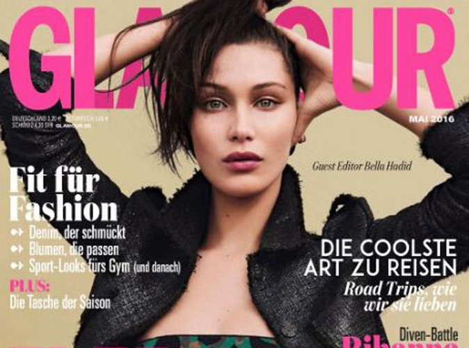 Bella Hadid : une cover girl naturelle et sexy pour le Glamour allemand
