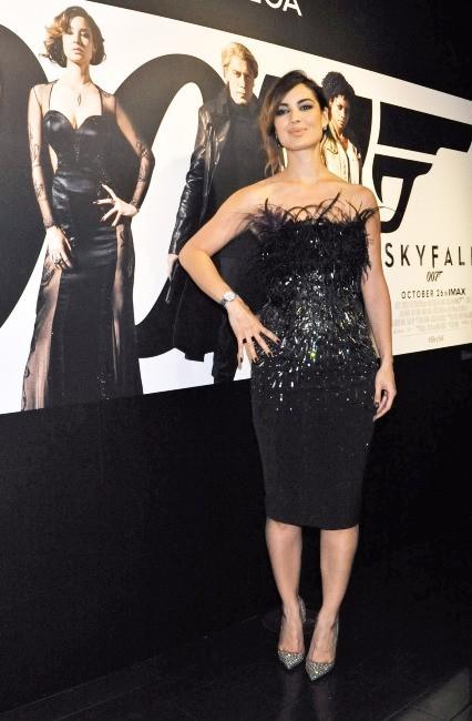 Bérénice Marlohe faisant la promotion de son nouveau film, Skyfall