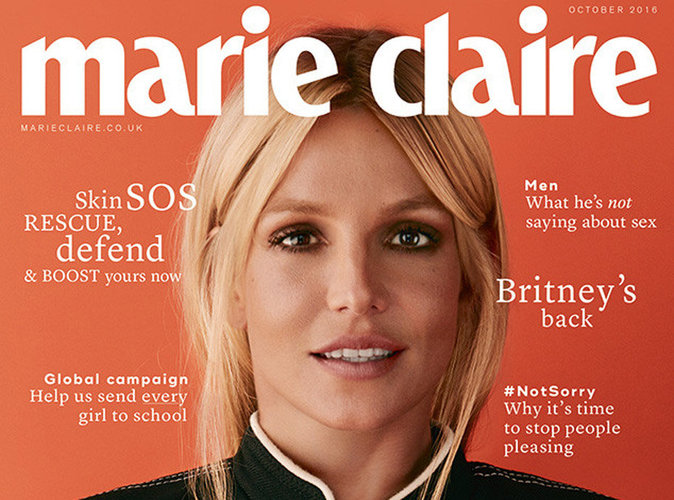 Britney Spears : transformation en couverture de Marie Claire UK !